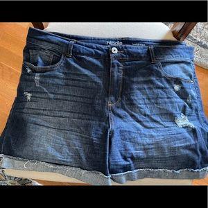 Hippie Laundry mid rise jean shorts sz 20